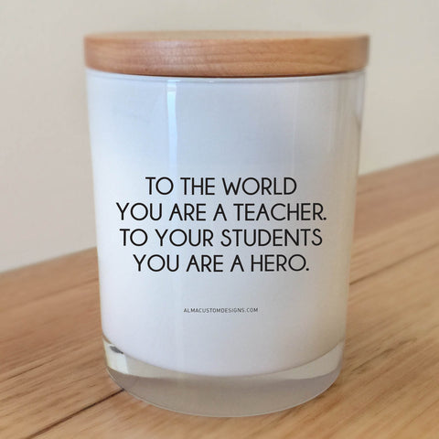Hero Teacher Candle