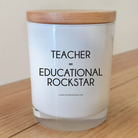Educational Rockstar Candle