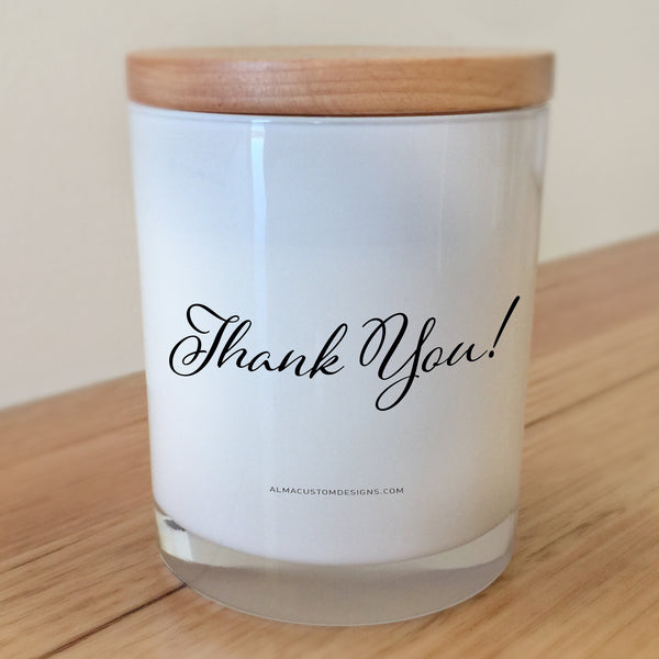 Thank you script candle