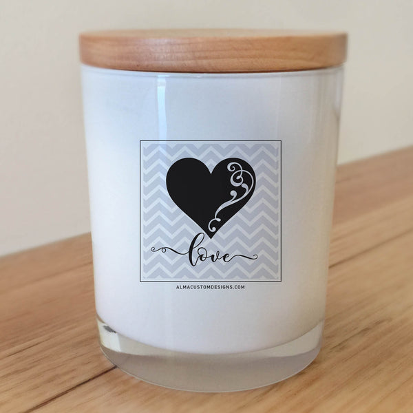 Love Chevron Candle