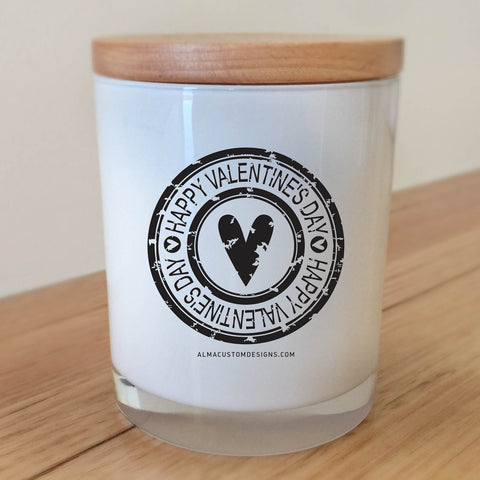 Valentine's Day Stamp Candle