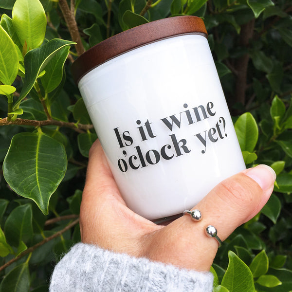 Is it wine o'clock yet? Candle