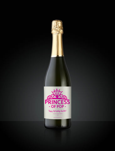 Princess of Pop Custom Wine Label
