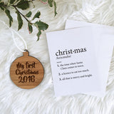 CHRISTMAS DEFINITION GIFT CARD