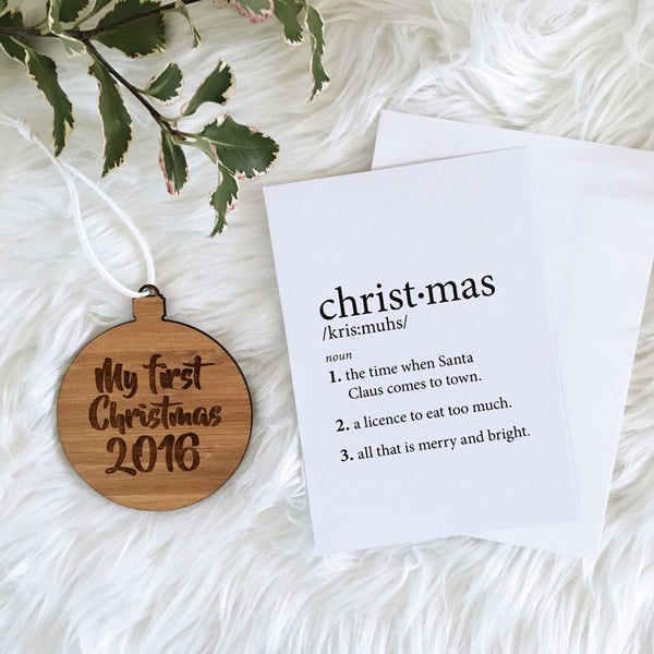 CHRISTMAS DEFINITION GIFT CARDS (10 pack)