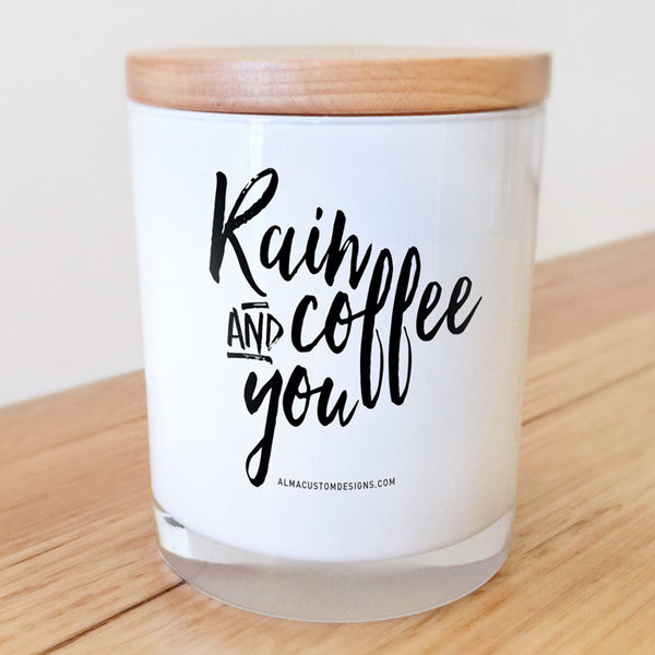 Rain Coffee and You Candle