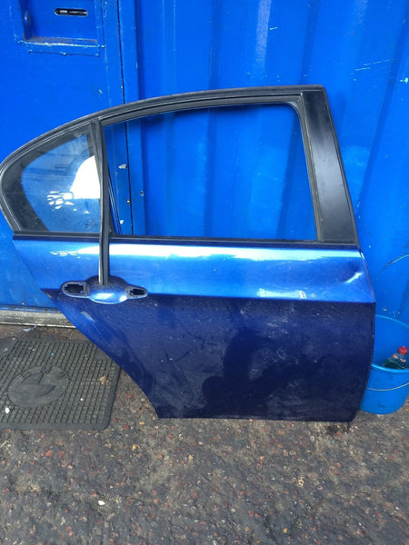 BMW 3 SERIES E90 Sport OSR drivers side rear door le mans blue