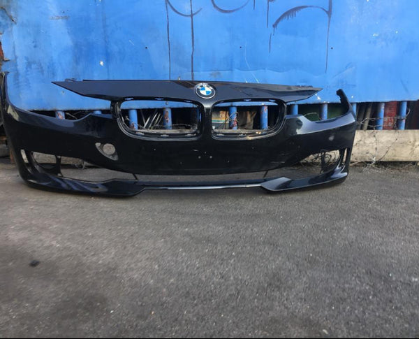 7308347 BMW 3 Series 2015 f30 front bumper in Black needs respray
