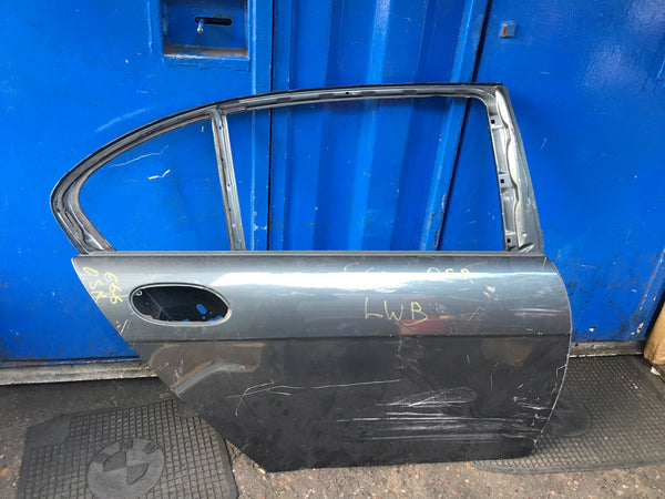 BMW 7 SERIES 2006 E66 LONG WHEEL BASE DRIVER SIDE REAR DOOR SHELL NEEDS RESPRAY