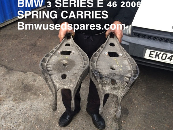 BMW 3 SERIES E46 2003 SET OF REAR SPRING CARRIER