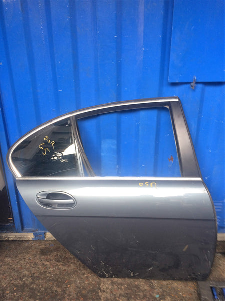 BMW 7 SERIES E65 2006 DRIVER SIDE REAR DOOR IN GREY MAY NEED SPRAYING (07901615047)