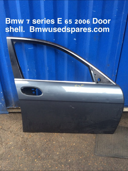 BMW 7 SERIES 2006 E65 DRIVER SIDE FRONT DOOR SHELL