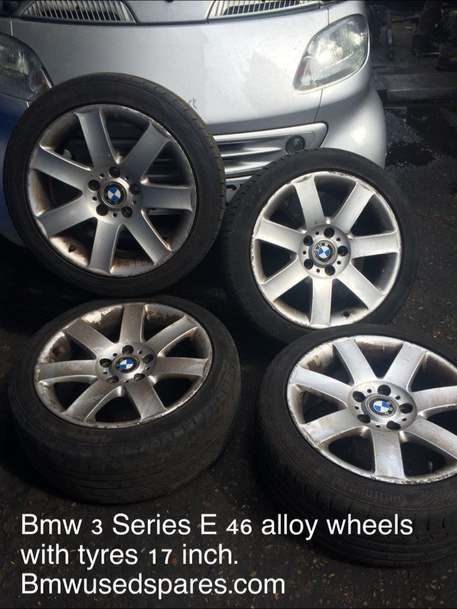 Bmw 3 series 2004 e46 17 inch alloy wheels with tyres