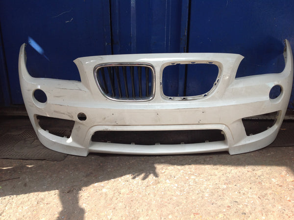 19017414 Bmw X1 2012 E84 M- Sport front bumper, needs  respray (DM)