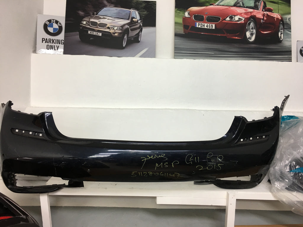 51128061147 BMW 7 SERIES 2015 G11 M-SPORT REAR BUMPER