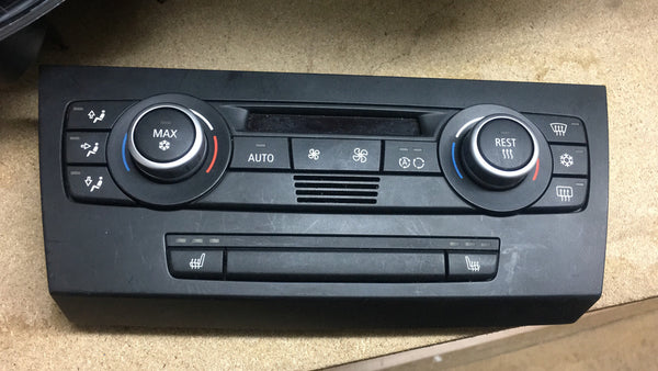 BMW 3 SERIES E90 2010 CLIMATE CONTROL UNIT WITH HEATED SEATS BUTTON