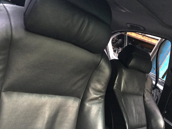 BMW 5 SERIES 2005 E60  COMFORT SEATS LEATHER INTERIOR  IN BLACK WITH DOOR CARDS