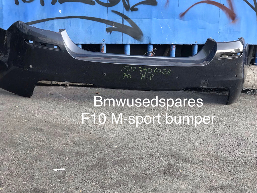 51127906324 BMW 5 SERIES F10 M SPORT REAR BUMPER IN  needs respray
