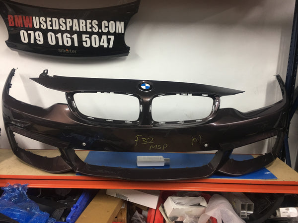51118054502 Bmw 4 series 2017 M-sport front bumper sensor holes no washer jets holes