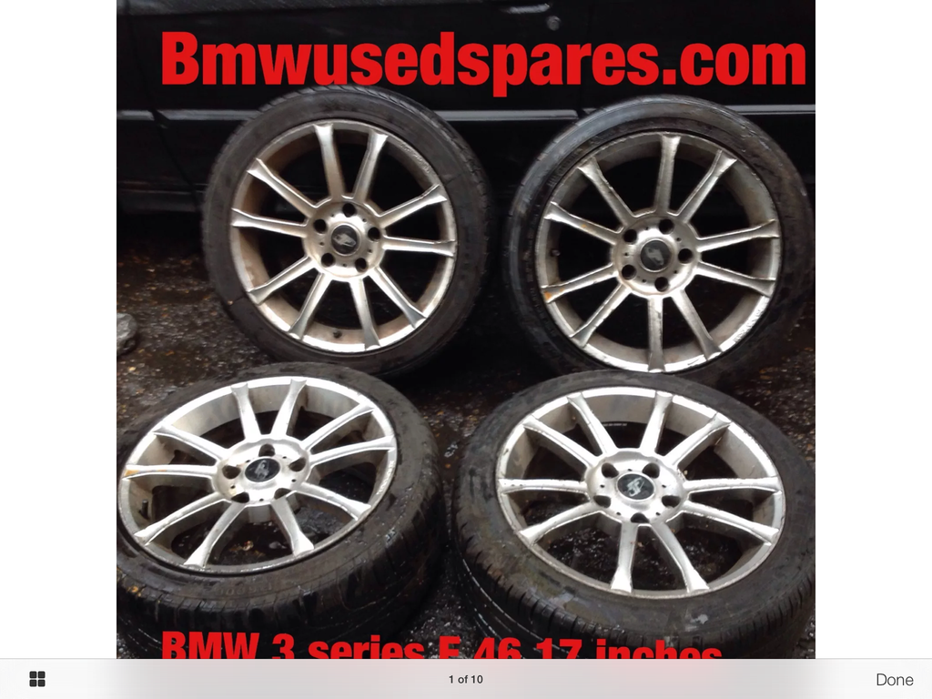 BMW 3 SERIES Alloy wheel 17inc SET  WITH TYRES WOULD FIT ANY 3 SERIES
