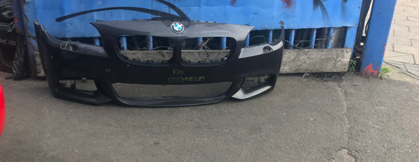 51117905289 Bmw 5 Series 2016 F10 front m-sport bumper needs repair/respray
