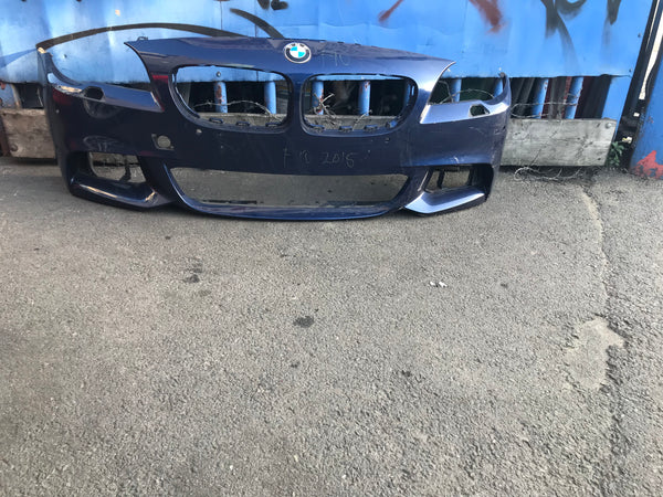 51118047373 Bmw 5 series 2015 F10 Front M-sport bumper in black (md)