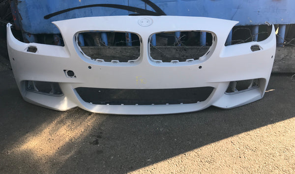 BMW 5 Series 2016 front M-sport bumper primed ready to spray