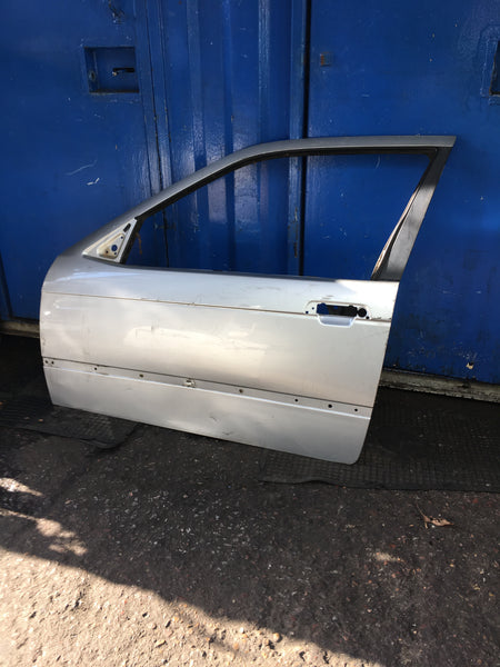 Bmw 3 Series E36 1999 Compact Passenger side door Shell in silver needs RESPRAY