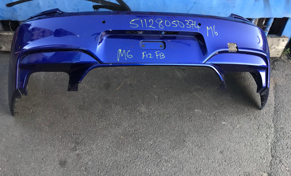 51128050374 BMW  M6 2017 F12 F13 Rear M-sport bumper needs respray