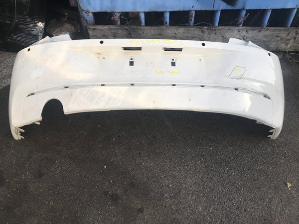 BMW 1 series 2012 F20 line sport Rear standard bumper sensor holes no reflector needs respray