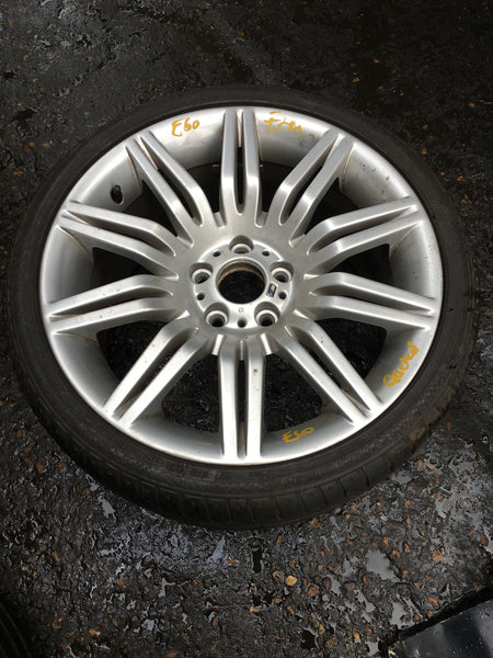 BMW 5 SERIES  2009 E60 SPIDER 172M 9.5*19 ALLOY WHEEL WITH TYRE 1 AIR LINE CRACK 8036949