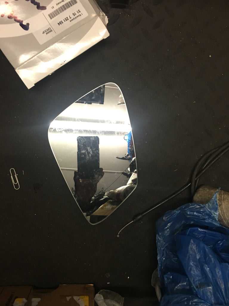 BMW 7 SERIES 2014 DRIVER SIDE MIRROR GLASS 51167251584