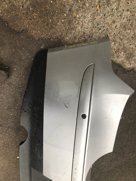 BMW 1 Series 2005 rear standard bumper silver with sensor holes