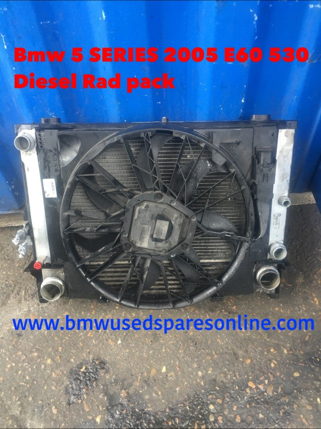 BMW 5 SERIES 2005 E60 530 DIESEL AUTOMATIC RAD PACK COMPLETE WITH INTERCOOLER  7805603