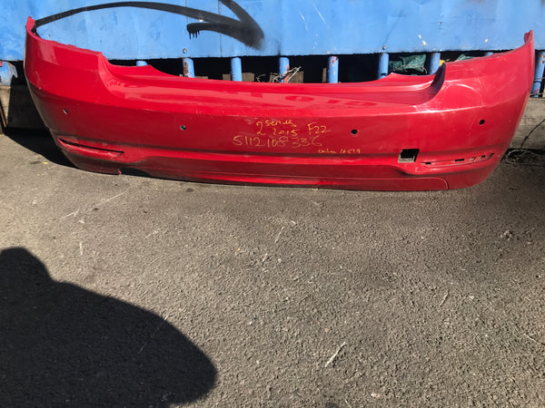 5112108336 BMW 2 Series 2015 F22 Rear Bumper in red
