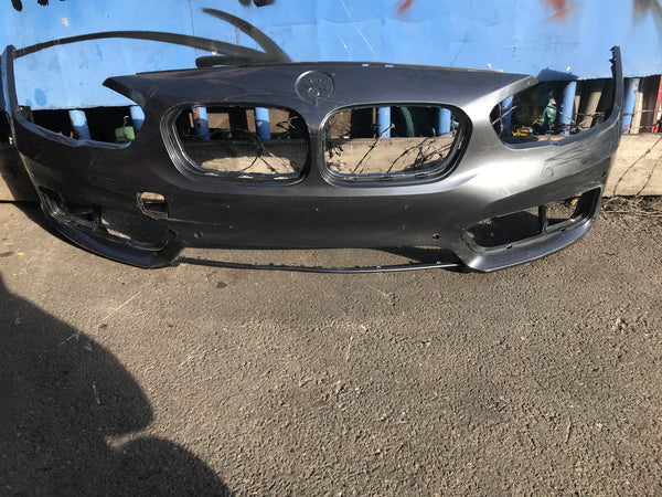 51117371736 BMW 1 Series 2018 f20 front bumper with camera and sensor holes