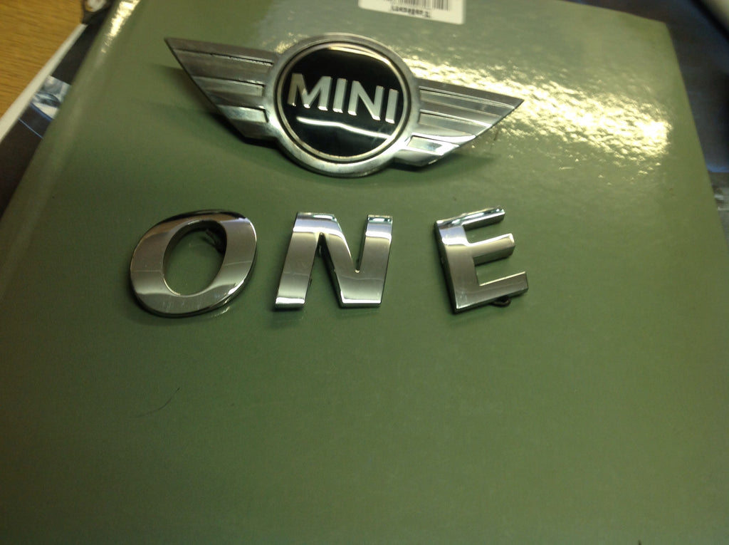 Mini Cooper one front bonnet badge one