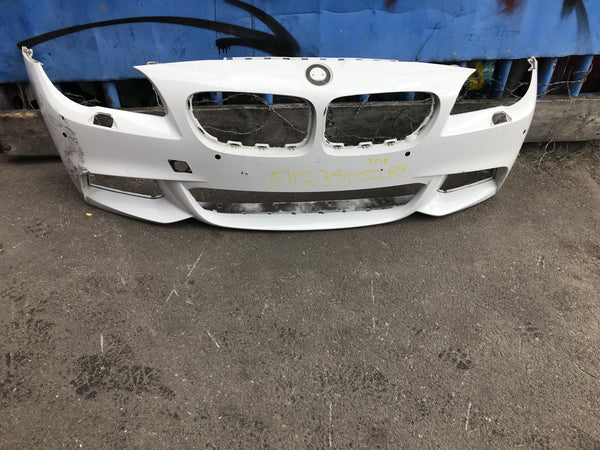 51117905289 bmw 5 Series 2016 Lci front M-sport bumper in white
