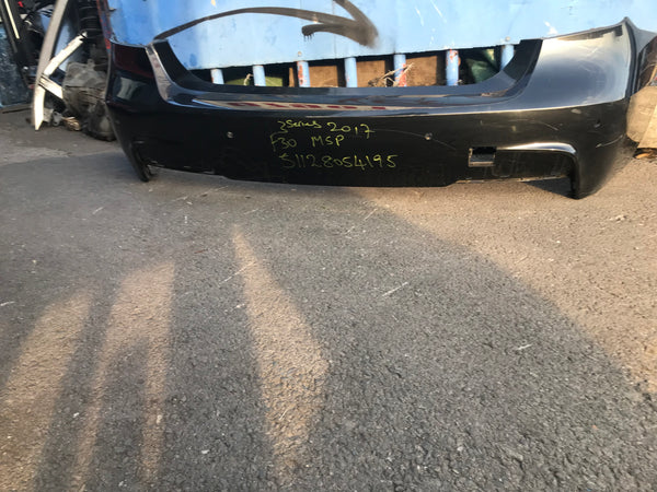 51128054195 BMW 3 Series 2017 f30 M-sport Rear Bumper in black