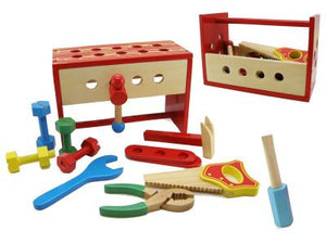 wooden tool box workbench allebasi toys