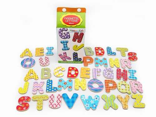 wooden fridge magnets alphabet letters allebasi toys