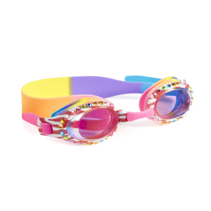 Zebra Crossing Pink Swimming Goggles Bling2o