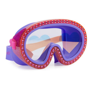 Big Heart Glitter Mask Swimming Goggles Bling2o