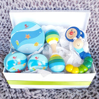 Baby Boy Blue Musical Wooden Toy Gift Box