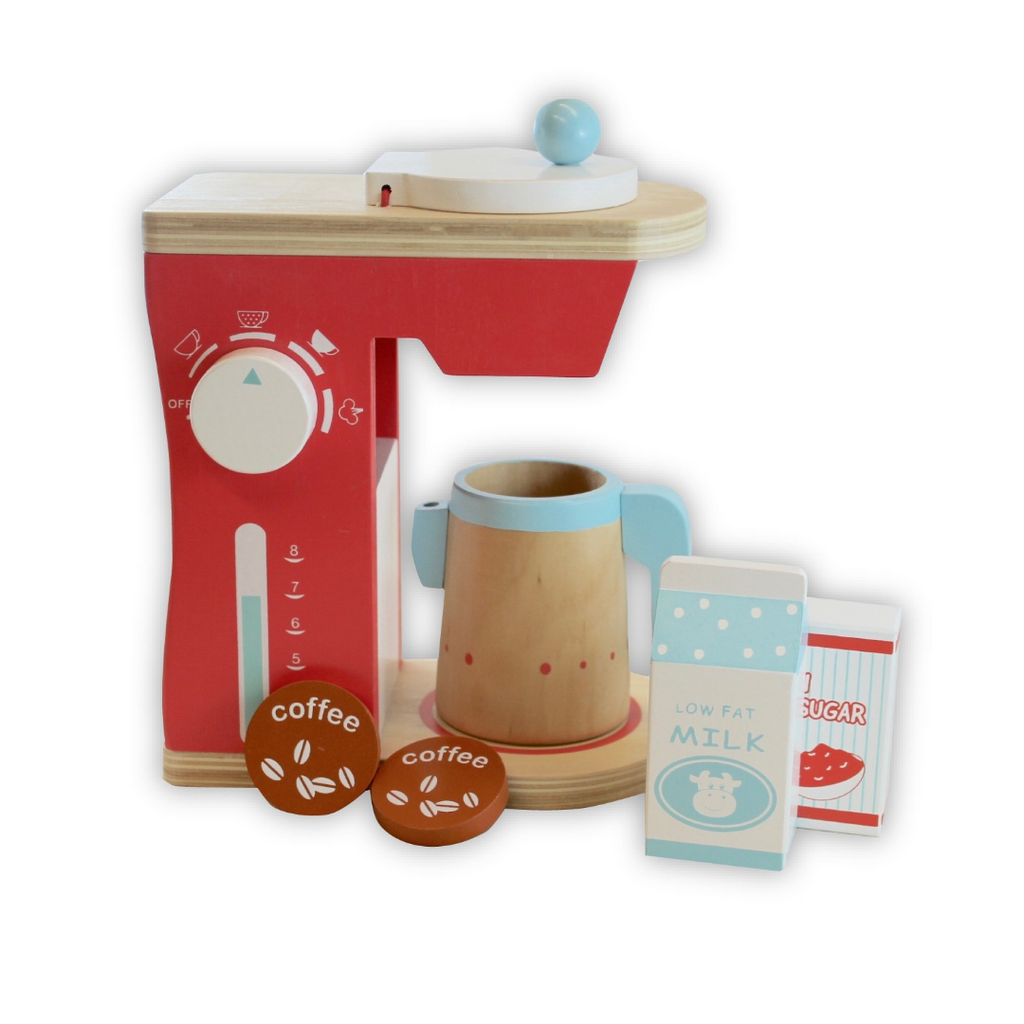 wooden toys allebasi kids coffee pod machine