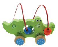 Crocodile Bead Maze on Wheels