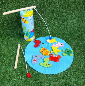 fishing tin wooden toys allebasi kids