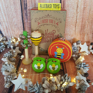 Christmas Gift Box Musical GREEN BEE