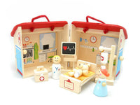 Wooden Hospital Play Set