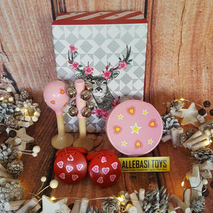 Christmas Gift Box Musical PINK RED